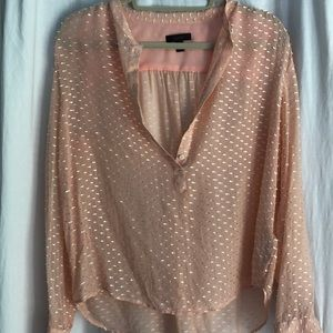 J. Crew Peach Silk Button Down